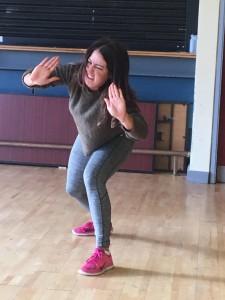 Rebecca pushing hard